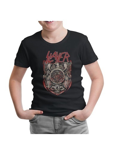 Lord Tshirt Slayer - Eagle Siyah Çocuk Tshirt Siyah